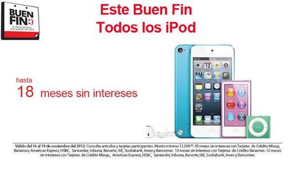 Buen Fin Apple meses sin interes