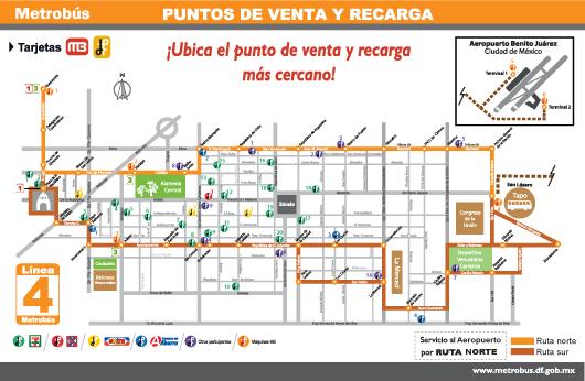 Puntos de venta y recarga tarjeta metrobus