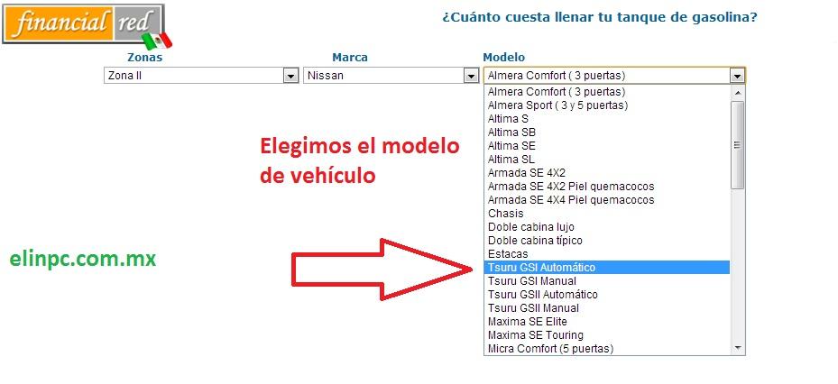 calcular costo gasolina 4