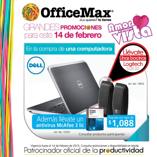 dell regalo officemax san valentin