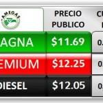 precio gasolina agosto 2013