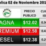 Aumenta el precio de la gasolina en noviembre 2013