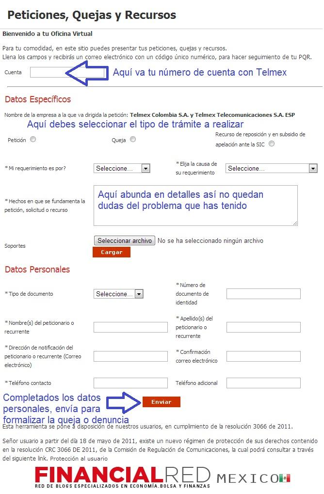 Quejas telmex c mo presentar una queja for Telefono oficina del consumidor